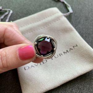 David Yurman Infinity Pendant Necklace Amethyst